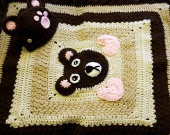 Bear Blanket w/ Free Hat