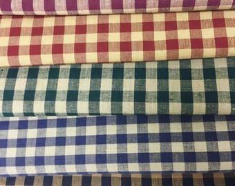 Homespun Fabric by the Yard Small Sqs