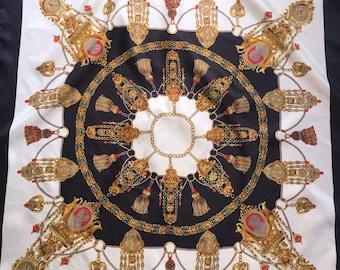 2146144c5f91 Exquisite vintage silk scarf baroque luxury design!!