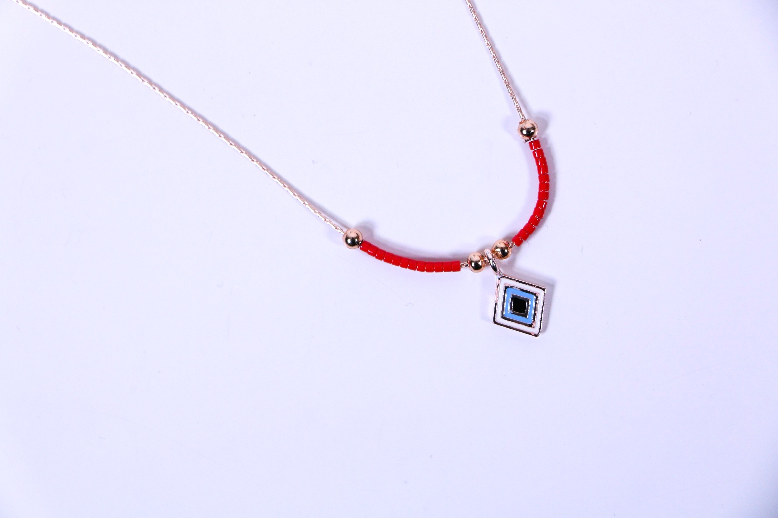 Devileye Necklace Necklace for Women Handmade Necklace Red  2d55b20df