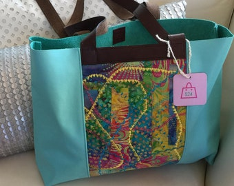 Perfect for Spring Leather tote bag
