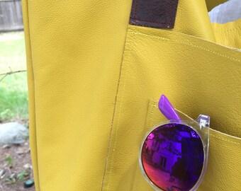 Lined, Lemon Twist Tote Bag