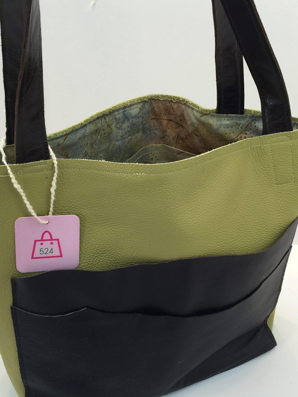 5c85503581e1a Key lime Handbag, lined handbag, Leather handbag, leather handbag women's,  handbags, purses and bags, leather purse, shoulder bag