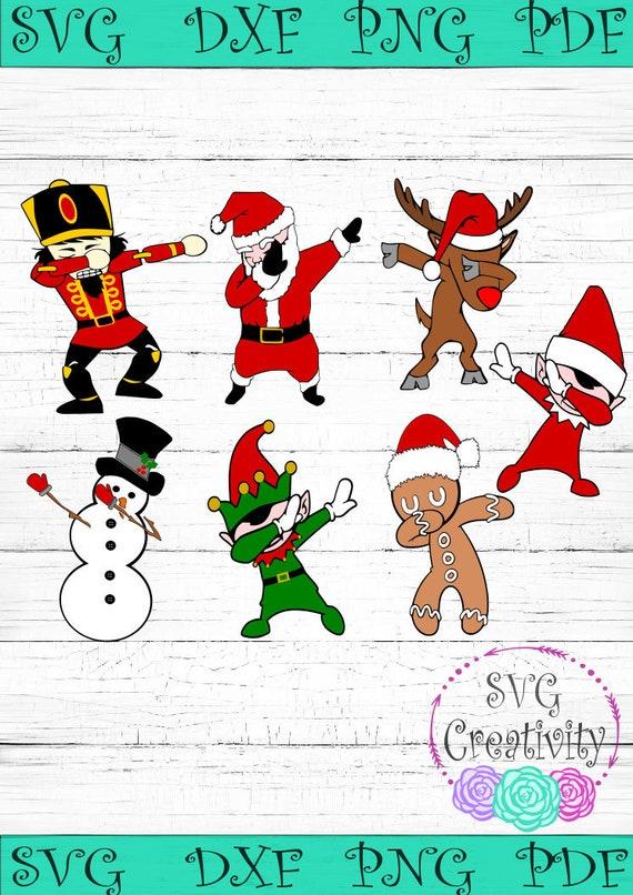 Dabbing Christmas *BUNDLE* SVG, Dabbing Christmas Characters SVG, Dabbing  Christmas Friends Svg