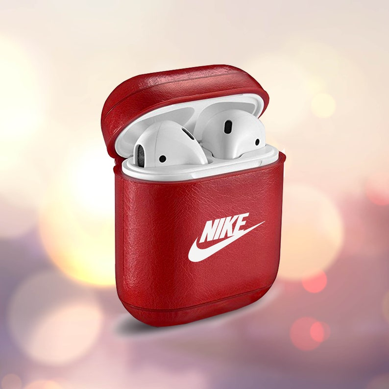 brand new a42f3 b1bb5 Inspired by Nike AirPod Nike Case Nike AirPod Case Keychain case Apple Air  Pod Monogram keychain Nike Sport AirPods Red AirPods Black AirPod