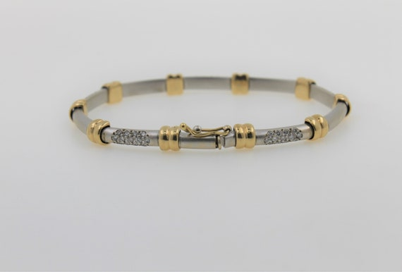 Vintage 1960s Handmade Lady's Two Tone 14K Gold D… - image 5