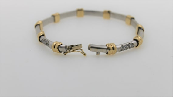 Vintage 1960s Handmade Lady's Two Tone 14K Gold D… - image 4