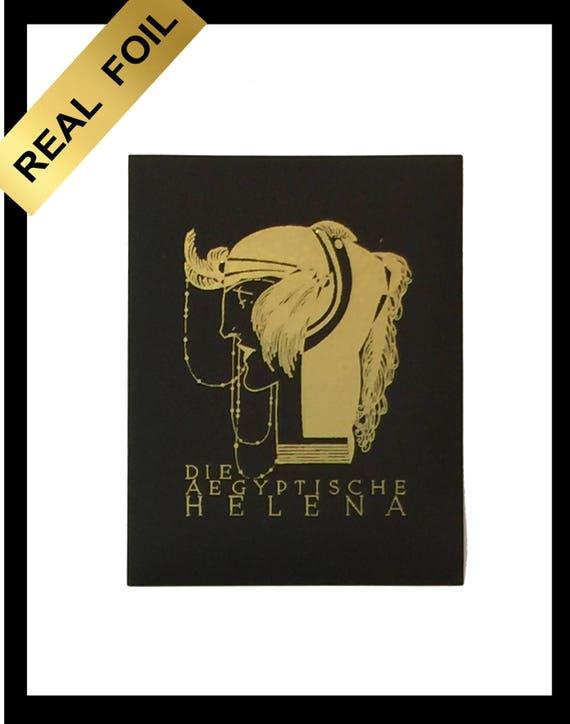 Real metallic Art Deco gold foil wall art print Die | Etsy