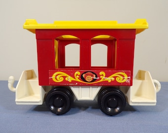 """Red Caboose from the Fisher Price Little People """"#991: Play Family Circus Train"""""""