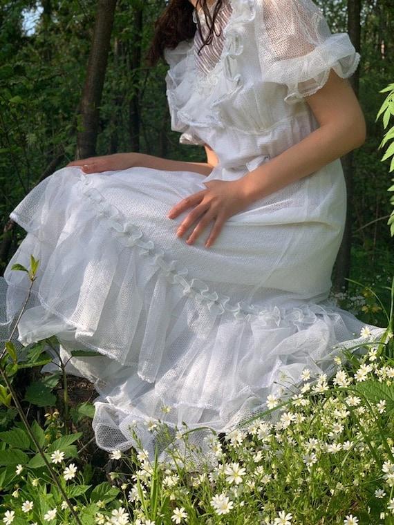 1970's white dress