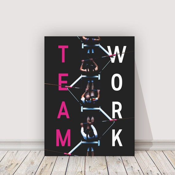 Team Work sports art canvas