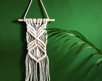 Macrame wall hanging   Boho wall decor   Fibre art   Small macrame   Wall art   Woven wall hanging   Handmade   Gift for her  