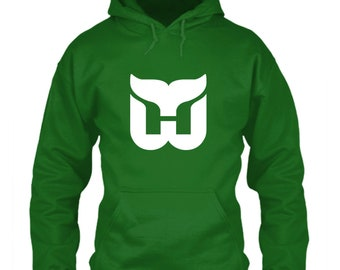 Hartford Whalers Hoodie Green Size S M L XL 2XL 3XL 4XL 5XL Extinct Hockey  Classic Throwback Tail Logo Icon Emblem Connecticut New England T 28f8fb553