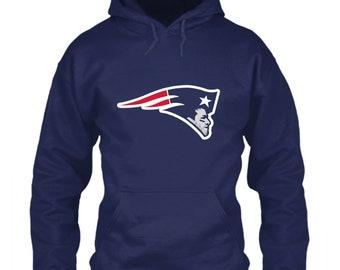 Tom Brady Hoodie New England Patriots Logo Parody Navy Blue Size S M L XL  2XL 3XL 4XL 5XL MVP Goat Boston Pats qb Face Head Icon TB12 Emblem 195519ddb