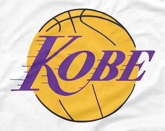09d50242834 Kobe Bryant Shirt Los Angeles Lakers Logo Parody Black Mamba Showtime Icon  Shaq Magic LeBron Retro NBA Emblem White S M L XL 2XL 3XL 4XL 5XL