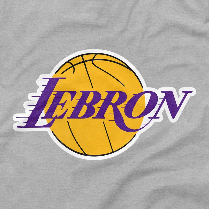 336211ab8 LeBron James Shirt Los Angeles Lakers Logo Gray Grey Size S M