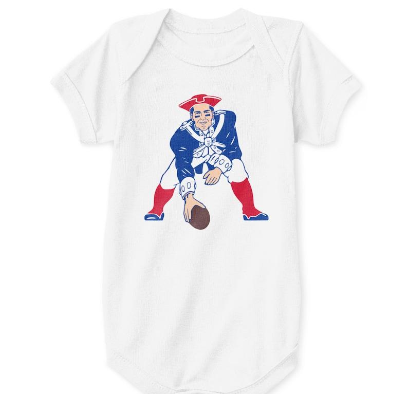 f58520f6e5 Tom Brady Baby Bodysuit New England Patriots Retro Logo Parody | Etsy