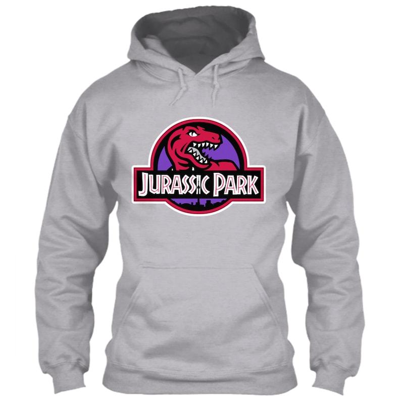 super popular eb50d f5e9e Toronto Raptors Hoodie Jurassic Park Logo Parody Retro NBA Emblem Throwback  Icon Kawhi Leonard Kyle Lowry Gray Size S M L XL 2XL 3XL 4XL 5XL