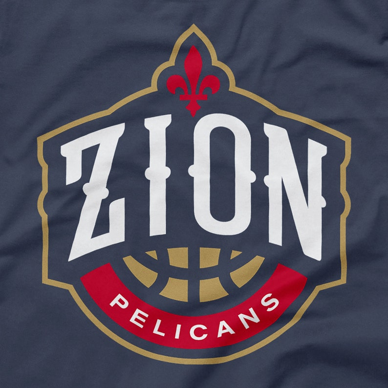 9525e775 Zion Williamson Shirt New Orleans Pelicans Logo Parody NOLA Emblem NBA  Draft Crescent City Big Easy Duke Icon Size S M L XL 2XL 3XL 4XL 5XL
