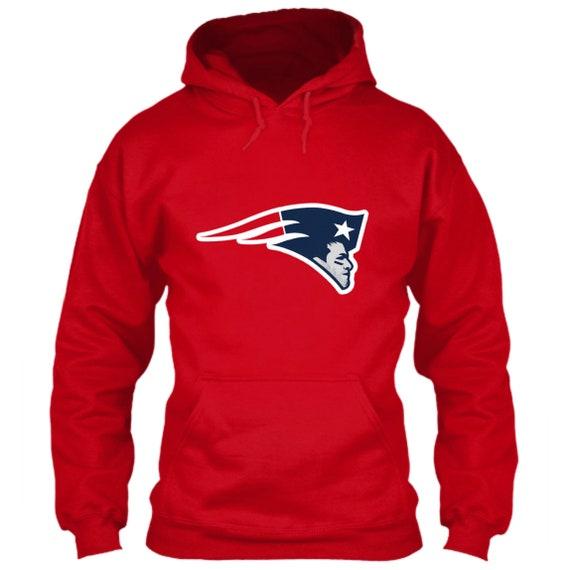 95347386c Tom Brady Hoodie New England Patriots Logo Parody Red Size S M
