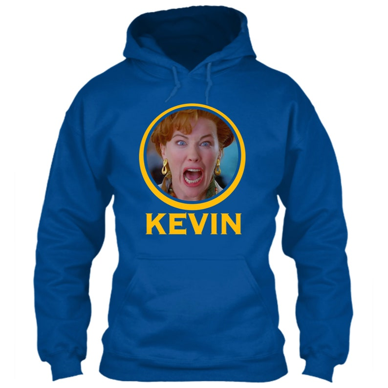pretty nice a4f8d 55985 Golden State Warriors Hoodie Kevin Durant Home Alone Movie Mom Logo Parody  Film Emblem Oakland NBA Icon Blue Size S M L XL 2XL 3XL 4XL 5XL