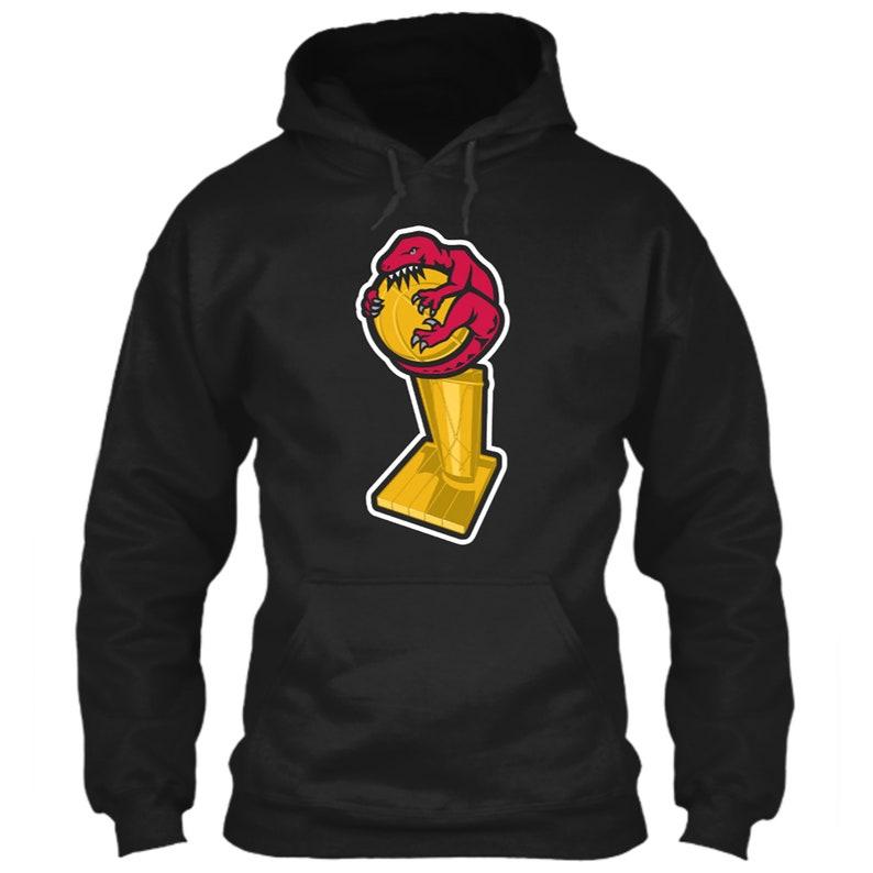 best website f8c49 718aa Toronto Raptors Hoodie NBA Title Logo Parody Larry O'Brien Trophy Emblem  Championship Icon Kawhi Leonard Black Size S M L XL 2XL 3XL 4XL 5XL