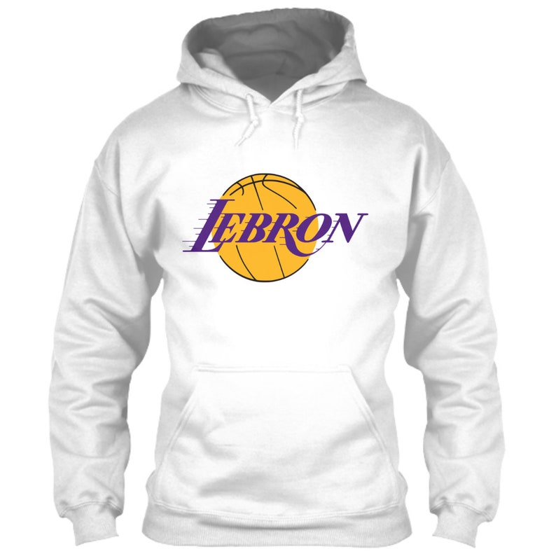 c1f7a167e2f LeBron James Hoodie Los Angeles Lakers Logo Parody White Size