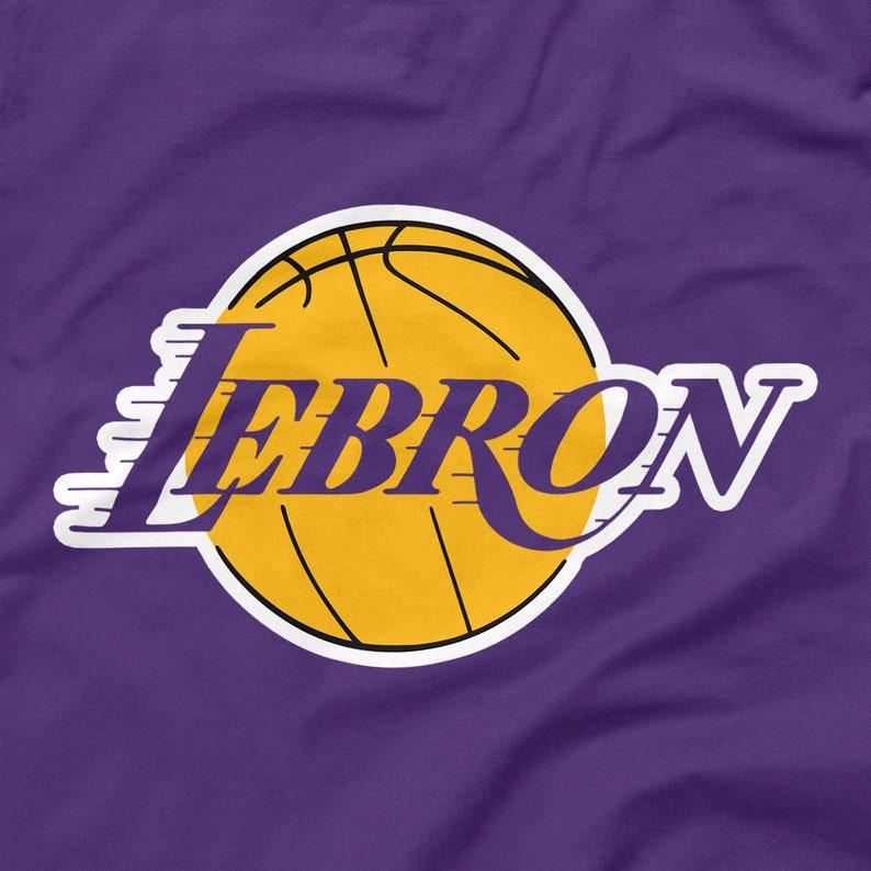 778572d6d0b LeBron James Shirt Los Angeles Lakers Logo Parody Purple Size