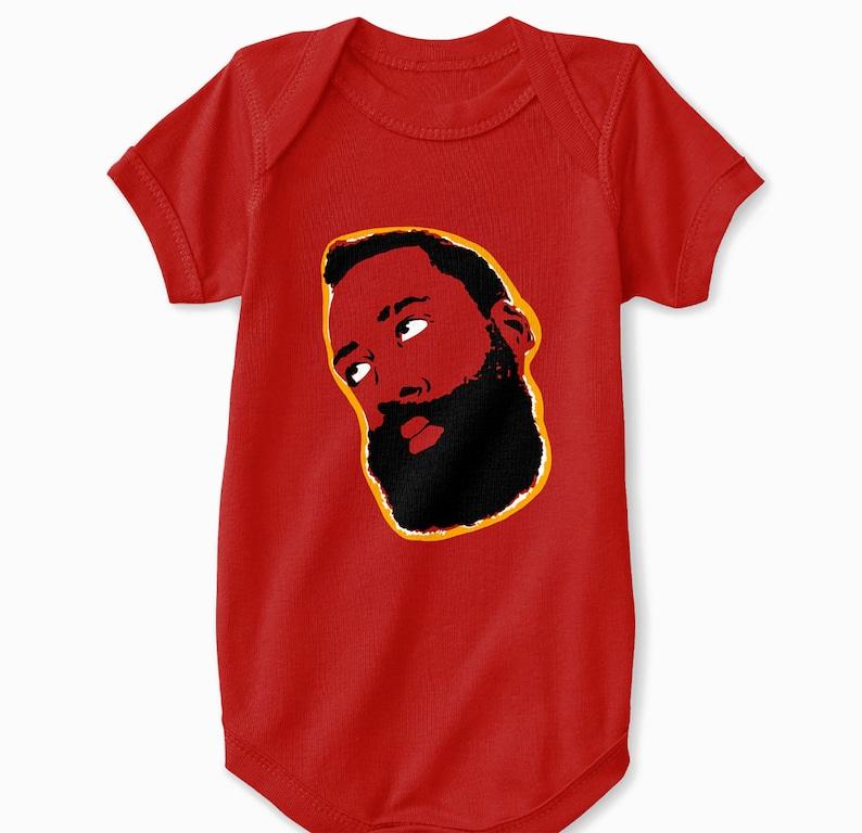 51ce88c83a07 Houston Rockets Baby Bodysuit James Harden Side Eye Roll Meme