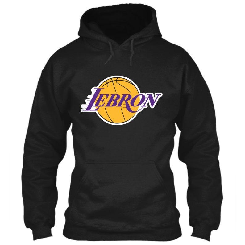 LeBron James Hoodie Los Angeles Lakers Logo Parody Black Size  ee2dd7af1