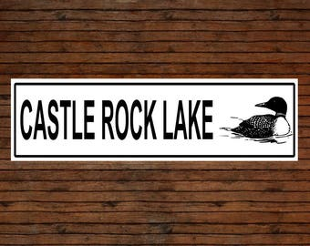 Custom Lake Sign with Classic Common Loon Image or Outdoor use/Gift
