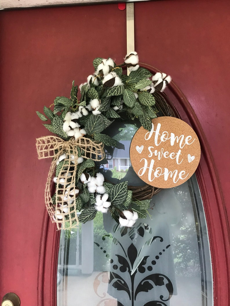 Rustic grapevine wreath  perfect for any door