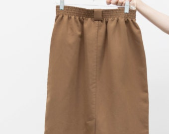 be7fa4e7b Vintage 1970s Camel Skirt with Pockets