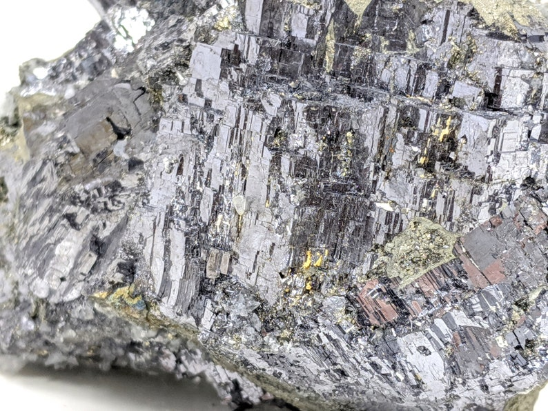 1.4 lbs Large Cabinet Metallic Galena with Pyrite and Calcite 10.1 x 4.5 x 6.8 cm