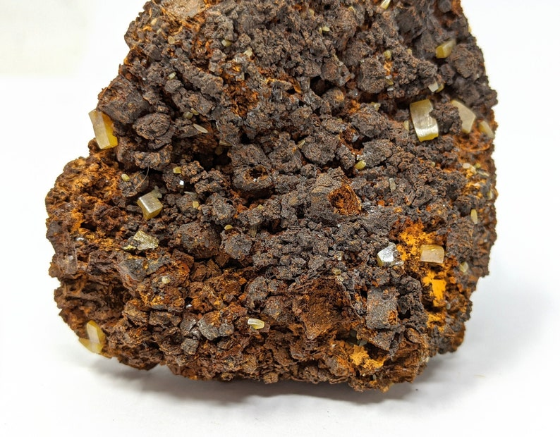 Mexican Wulfenite Mineral Specimen 7.6 x 3.8 x 7.1 cm
