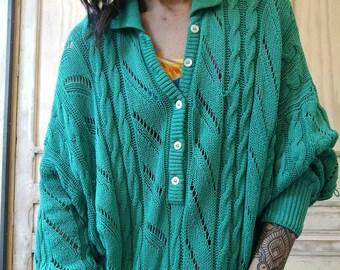 Dress Oversize Crochet 80s Polo/pullover