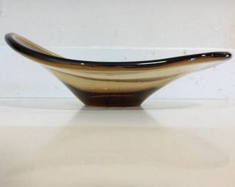 Oblong Mid Century Modern Bowl by Paul Kedelv Scandinavian Swedish Flygsfors