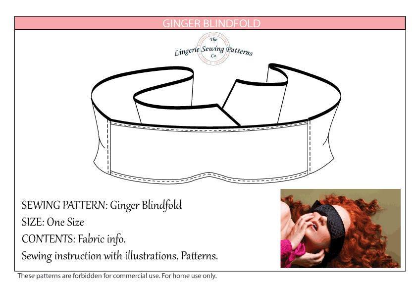 Blindfold Sewing Pattern / PDF Sewing Pattern / Blindfold / PDF ...