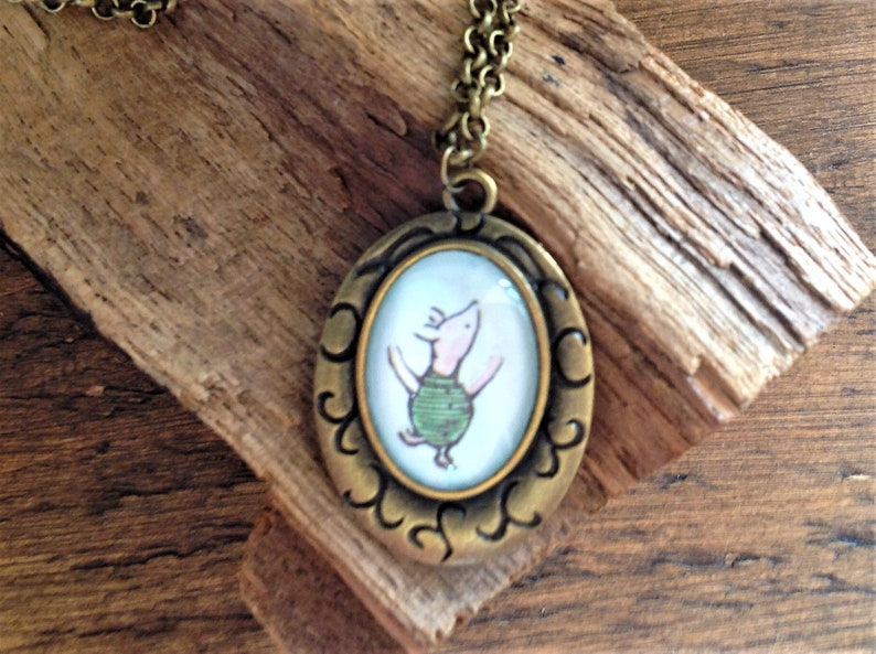 Winnie the Pooh jewellery set 925 chain bracelet pendant keyring present gift