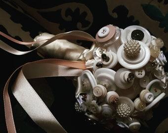 Bridal button bouquet / wedding bouquet / wedding accessories