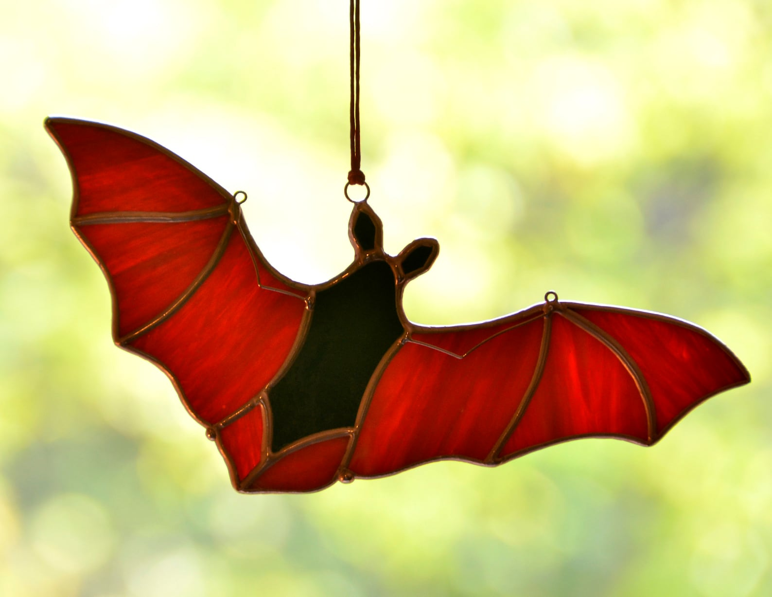 Halloween Bat Stained Glass Suncatchers