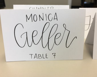 Wedding Place Cards // Modern Calligraphy // Custom Name Cards for Events