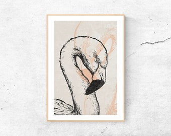 A4 Print | Flamingo | digital illustration