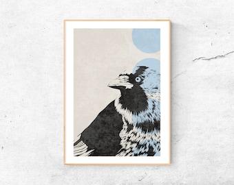 A4 Print | Dohle | digital illustration | Raven