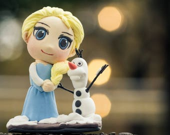 The Queen of snow in a Chibi version