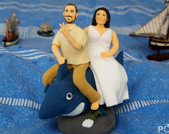 personalized wedding cake topper, original gift for a couple, for a newly-married couple, cute couple, anniversary gift, custom figure