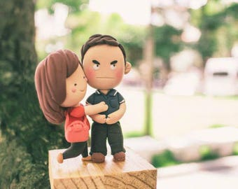 Custom figurine (Chibi Style), Couples, picture Figurine, personalized gift