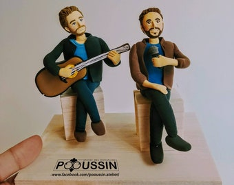 Personalized figurine of a boyband, gift for a musician, gift for a guitarist, original funny gift, for a friend, customized christmas gift
