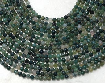 Green Moss Agate Round