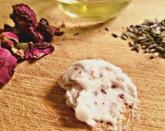 Signature Lavender + Rose Body Scrub | Herbal Body Scrub | Floral Body Scrub | Organic Body Scrub
